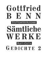 Sämtliche Werke - Stuttgarter Ausgabe / Gedichte 2