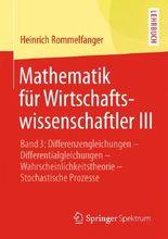 Mathematik Fur Wirtschaftswissenschaftler III