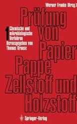 Prufung Von Papier, Pappe, Zellstoff Und Holzstoff