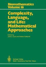 Complexity, Language, and Life: Mathematical Approaches