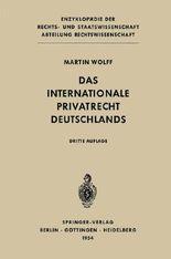 Das Internationale Privatrecht Deutschlands