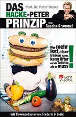 Prof. Dr. Peter Hacke. Das Hacke-Peter-Prinzip: Wer mehr isst, als er trinken kann, kann öfter auf die Toilette, als er muss!