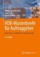 VOB-Musterbriefe für Auftraggeber