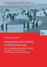 Integration, Normalitat Und Behinderung