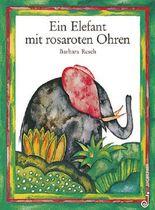 Ein Elefant mit rosaroten Ohren
