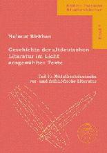 Mittelhochdeutsche vor- und frühhöfische Literatur