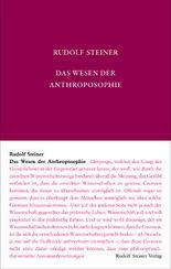 Das Wesen der Anthroposophie