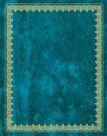 Blank Book Lederlook blau (groß) - Einschreibebuch / Notizbuch