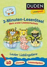 2-Minuten-Leserätsel - Lauter Lieblingstiere