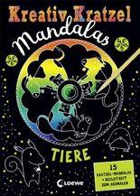 Kreativ-Kratzel Mandalas: Tiere