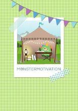 Monstermotivation Schreibtagebuch: Notizbuch, 36 gestaltete Seiten, DIN A5