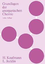 Grundlagen der anorganischen Chemie