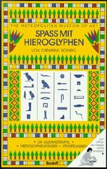 Spaß mit Hieroglyphen, 24 Gummistempeln, Stempelkissen u. Hieroglyphenführer