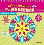 Reise-Rücksitz-Malblock. Mandalas Blumen
