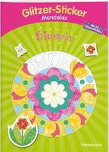 Glitzer-Sticker-Mandalas Blumen