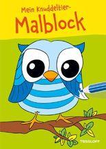 Mein Knuddeltier-Malblock (Eule). Ab 4 Jahren