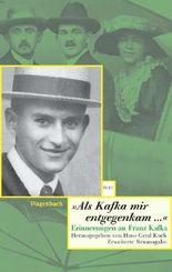 """Als Kafka mir entgegenkam..."""