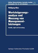 Wertsteigerungsanalyse und Messung von Managementleistungen