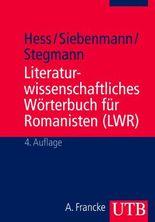 Literaturwissenschaftliches Wörterbuch für Romanisten