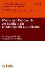 Wandel und Kontinuität der Familie in der Bundesrepublik Deutschland
