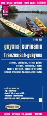 Reise Know-How Landkarte Guyana, Suriname, Französisch-Guayana (1:850.000)