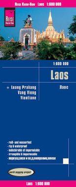 Reise Know-How Landkarte Laos (1:600.000) mit Luang Prabang, Vang Vieng, Vientiane