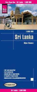 Reise Know-How Landkarte Sri Lanka (1:500.000)