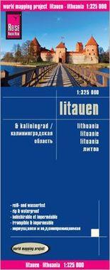 Reise Know-How Landkarte Litauen und Kaliningrad (1:325.000)