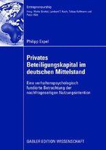 Privates Beteiligungskapital im deutschen Mittelstand