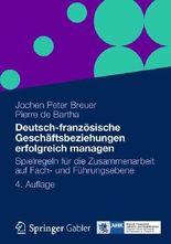 Deutsch-Franzosische Geschaftsbeziehungen Erfolgreich Managen