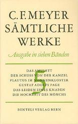 Das Amulett, Der Schuss von der Kanzel, Plautus im Nonnenkloster, Gustav Adolfs Page, Das Leiden eines Knaben, Die Hochzeit des Mönchs