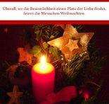 Überall, wo die Besinnlichkeit einen Platz der Liebe findet, feiern die Menschen Weihnachten.