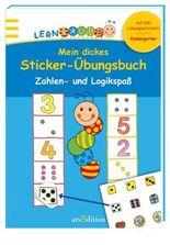 Lernraupe - Mein dickes Sticker-Übungsbuch Zahlen- und Logikspaß