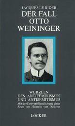 Der Fall Otto Weininger