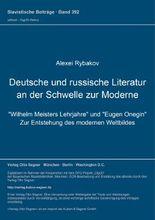 Deutsche und russische Literatur an der Schwelle zur Moderne