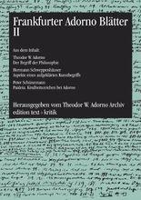 Frankfurter Adorno Blätter II