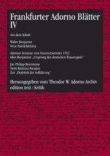 Frankfurter Adorno Blätter IV