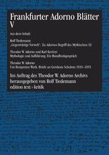 Frankfurter Adorno Blätter V