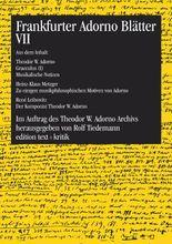 Frankfurter Adorno Blätter VII