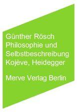 Philosophie und Selbstbeschreibung