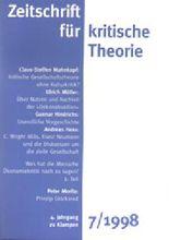 Zeitschrift für kritische Theorie. H.7