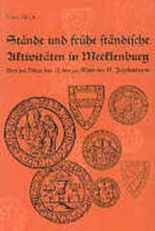 Stände und frühe ständische Aktivitäten in Mecklenburg