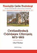 Ortsfamilienbuch der Gemeinde Schönhagen, Ostprignitz, 1673-1803