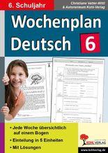 Wochenplan Deutsch 6