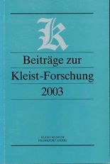 Beiträge zur Kleist-Forschung 2003