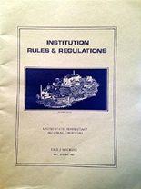 Institution Rules & Regulations, United States Penitentiary, Alcatraz, California