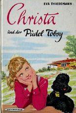 Christa und der Pudel Tobsy.