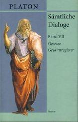 Gesetze; Gesamtregister. Sämtliche Dialoge VII.