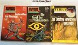 3 Romane, TERRA ASTRA/TERRA; 1. Nr. 607 Androiden im Einsatz, Nr. 163 Die Insel der Verbannten, Nr. 442 Die letzten Menschen der Erde, siehe org. Bild