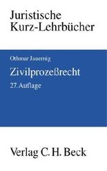 Zivilprozessrecht by Othmar Jauernig (2007-09-05)